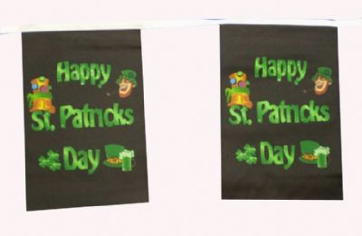 HAPPY ST PATRICKS DAY BUNTING - 9 METRES 30 FLAGS